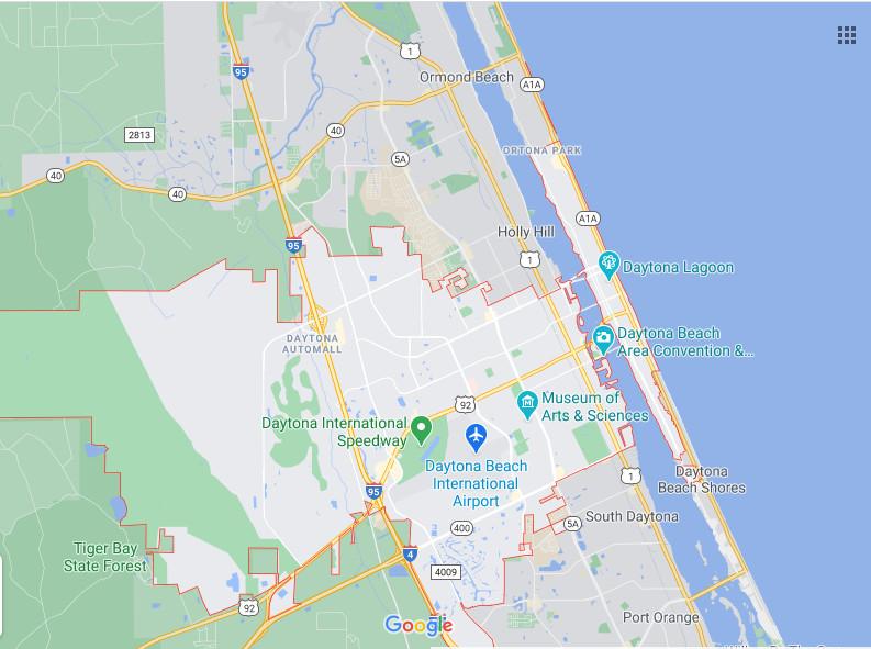 Daytona Beach and Surrounding Areas